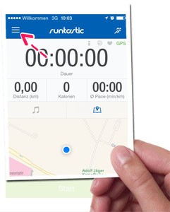 How to connect the Runtastic Orbit with the Runtastic-app. Explained shortly at www.sportspunk.de