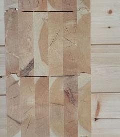Blockbohle - Lamellenbalken 275 mm - Holzwand - Kreuzecke - Massivholzhaus - Blockhaus - Polarkiefer - Polarholz - Blockhausbau