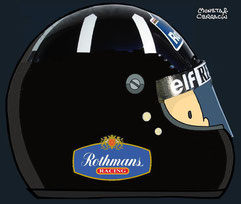 Helmet of Damon Graham Devereux Hill by Muneta & Cerracín