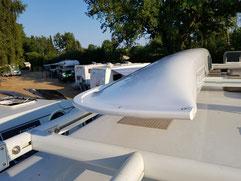 XCAT Segelkatamaran zum Camping auf Wohnmobildach transportieren