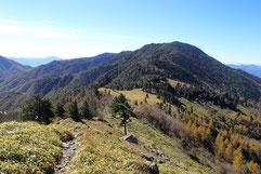 石丸峠から見た小金沢山