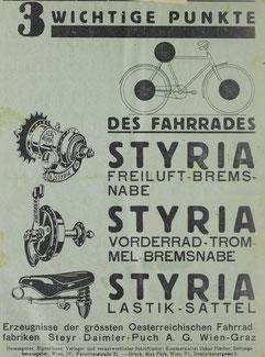 Quelle: Österr. Nationalbibliothek, Nähmaschinen- u. Fahrrad-Zeitung, 6. September 1936