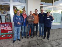 v.l.: Markus, Annette, Jens, Manni, Helmut, Margret