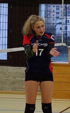 Motivation: Zuspielerin Aneta Hanisova feuert ihr Team an