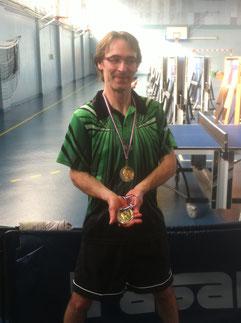 Lionel, 2ème des H10, avec la médaille de JC, 4ème des H12