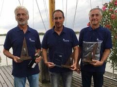Sieger-Crew: Günter Stagl, Andreas Zethner, Erich Zethner (v.l.)