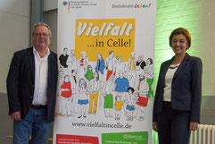 Federführende Amt, Herr Backhaus und Frau Klukon   Foto: Alexander Ahrenhold