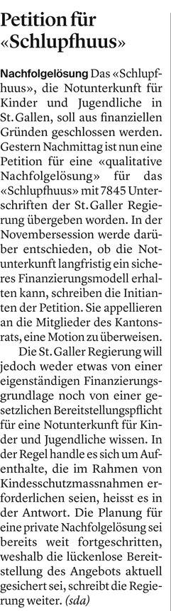 Tagblatt vom 19. November 2019