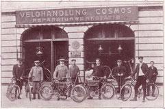 Um 1936, erste motorisierte 2-Räder bei uns