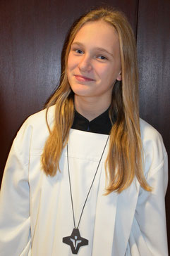 Sophia ist die erste Messdiener-Vertretung der St. Nikolaus Messdiener Wennemen. © Bild: Björn Merker