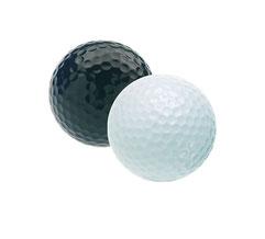 Golfbälle neutral, Golfbälle neutral ohne Logo, Schwarze Golfbälle, Blanko weiße Golfbälle, Golfbälle ohne Firmenlogo, Golfbälle blanko weiß