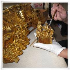 お仏壇の修理 お洗濯 クリーニング 金箔貼り