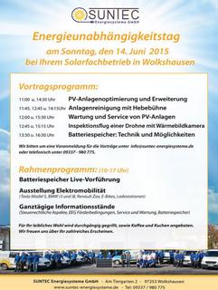 Energieunabhängigkeitstag in Wolkshausen