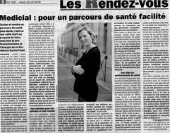 article sur medicial paru dans le patriote beaujolais n° 1087 du jeudi 23 juin 2016