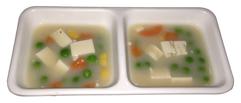ちゃむ家で2日に一度与えているHigh Protein Supplement(サプリメント) に野菜を入れた食事。