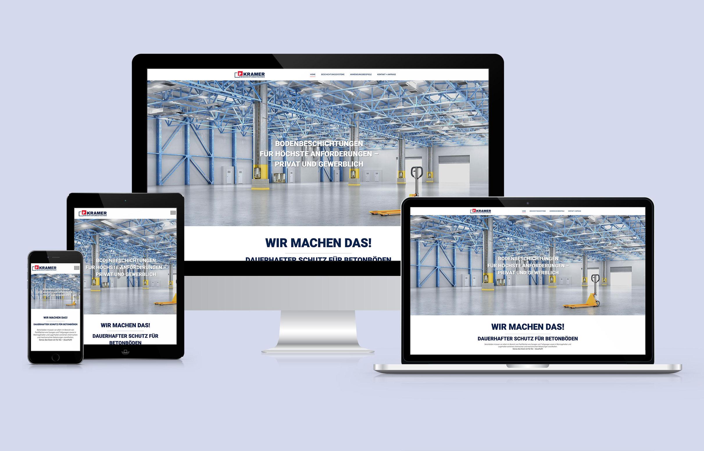 Kramer Beschichtungstechnik Website