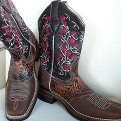 Lederstiefel, Stiefel, Cowboystiefel, Reitstiefel, Westernreitstiefel, Reitstiefel, Stiefel aus Mexiko