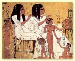 Nadelepilation gab es im alten Ägypten noch nicht...aber Fadenmethode