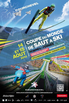 Coupe de Monde Saut a Ski : Courchevel 2013 Demonstration aeriennes aigles Courchevel praz