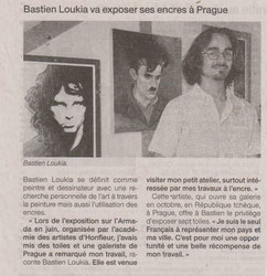 Interview de Bastien Loukia au journal Ouest-France sur l'exposition programmée à Prague