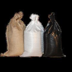 Sandsäcke aus PP oder Jute