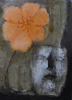 Flowering man   33.3×24.2cm Oil on canvas   Private collection