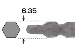 六角軸径6.35