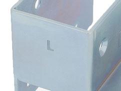 レフト(左側)を表すLマーク刻印