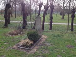 Grabstein für den serbischen Soldaten Bogossaw Kosstitsch, verstorben am 11. Mai 1945.Foto: W. Tränkner, 2019