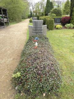 Grabstelle für einen unbekannten sowjetischen Kriegstoten, beigesetzt am 6. Juni 1946. H. Gossler Gemeinde Schiffdorf, 2019