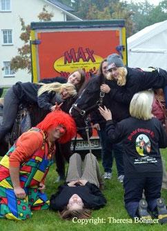 """Clown """"Max"""" und wir im Dünenpark Binz"""