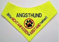 Angsthund im Training, Halstuch, Hundehalstuch, Kenndecke