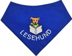 Lesehund, Schulhund, Besuchshund, Halstuch, Therapiehund, tetxtilfashion.de