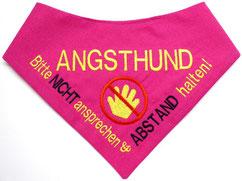Angsthund, Halstuch, pink, Baumwolle, Signaltuch