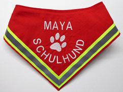 Halstuch Familienhund, Schulhund, Begleithund , Reflektor