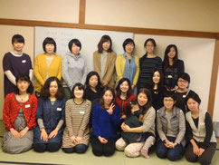 冷えとりワークショップ参加の皆さんです!佐々木さん、写真ありがとうございました。