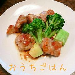 鶏肉とブロッコリーをジンジャーソースで