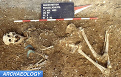 Bronze age archaeology site mobile woman's grave