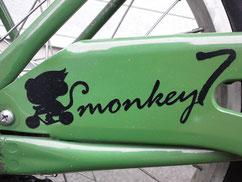 自転車ステッカー写真