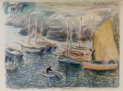 W. Van Hasselt Louise Le Vavasseur. Arcachon Peinture bordelaise. Bordeaux. Bassam