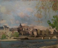 W. Van Hasselt. Arcachon Peinture bordelaise. Bordeaux. Bassam