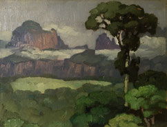 Jules Louis Moréteau, Peinture Africaniste Bordeaux. Bassam