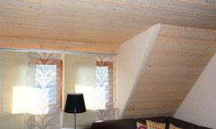 Innenansicht Raum mit Holzelementen - die Zimmerei Tobias Lutz ist Ihr Spezialist für den Innenausbau