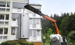 Abladen eines Blockheizkraftwerk - Spezialaufgabe für Tobias Lutz