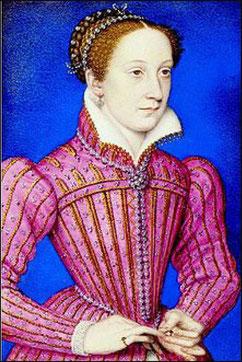 Maria Stuart um 1558, Portät von Francois Clouet         (aus Wikipedia)