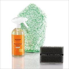 Outdoor-Set+ Art.Nr. 7252  • Intensivreiniger, 500 ml • Schaumpumpe, weiss • Reinigungshandschuh Langflor, grüne Faser • DuoPad 12x8 cm, graue Faser • inkl. Klickbox