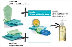 Küchen-Set Handschuh Art.Nr. 7325 oder Küchen-Set Tuch Art.Nr. 7315 zusammen mit Küchen-Set Herd & Spüle+ Art.Nr. 7336 --> Gratis Kraftreiniger, 500 ml und Schaumpumpe, weiss