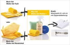Wohn-Set Handschuh Art.Nr. 7362 oder Wohn-Set Tuch Art.Nr. 7361 zusammen mit Wohn-Set Polster+ Art.Nr. 7372 --> Gratis Geruchsentferner, 500 ml und Sprühkopf, grau