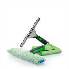 Fenster-Set Profi 25 cm+ - Art.Nr. 7250 • Trockentuch mittel 45x60 cm, grün • Fenstereinwäscher, 25 cm • Fensterabzieher, 25 cm • inkl. Klickbox