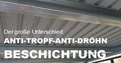 Antitropfbeschichtung Dachunterseite Carport